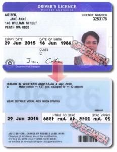 Australian Driver Licence WA Car