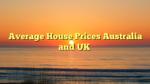 Average House Prices Australia and UK