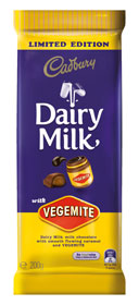 Cadbury Diary Milk with VEGEMITE