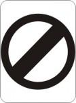 Derestricted Sign