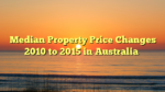 Median Property Price Changes 2010 to 2015 in Australia