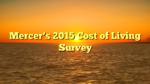 Mercer's 2015 Cost of Living Survey