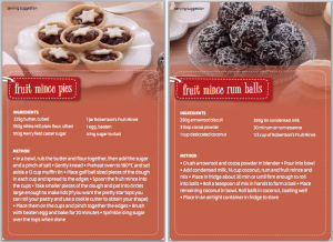 Recipe for Mince Pies and Rum Balls