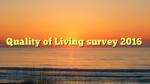 Quality of Living survey 2016