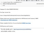 Scam tax email