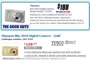 Olympus Mju 5010 Digital Camera