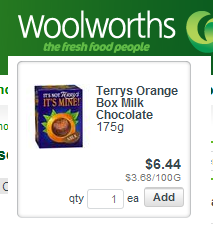 Woolworths Terrys Chocolate Orange