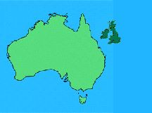Map Of Uk Over Australia.Map Of Australia And Uk Britzinoz