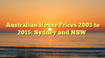 Australian House Prices 2003 to 2015: Sydney and NSW