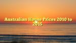Australian House Prices 2010 to 2015