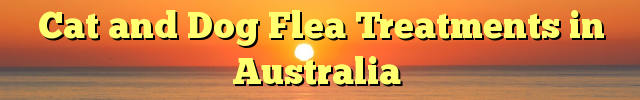 Cat and Dog Flea Treatments in Australia