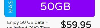 Data Only SIM – 50 GB data for $60