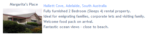 Margaritas Place - Hallet Cove, Furnished Accommodation