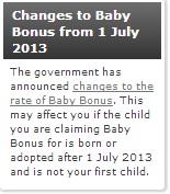 Budget 2013 Baby Bonus